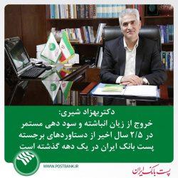 مدیرعامل پست بانک ایران مطرح کرد: خروج از زیان انباشته و سوددهی مستمر در ۲/۵ سال اخیر