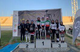 رکوردشکنی بانوان رکاب زن در مسابقات قهرمانی کشور